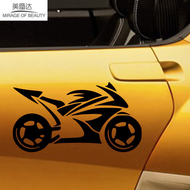 14 5cm8cm outdoor extreme sports personalized custom car stickers cool motocross vinyl decals car