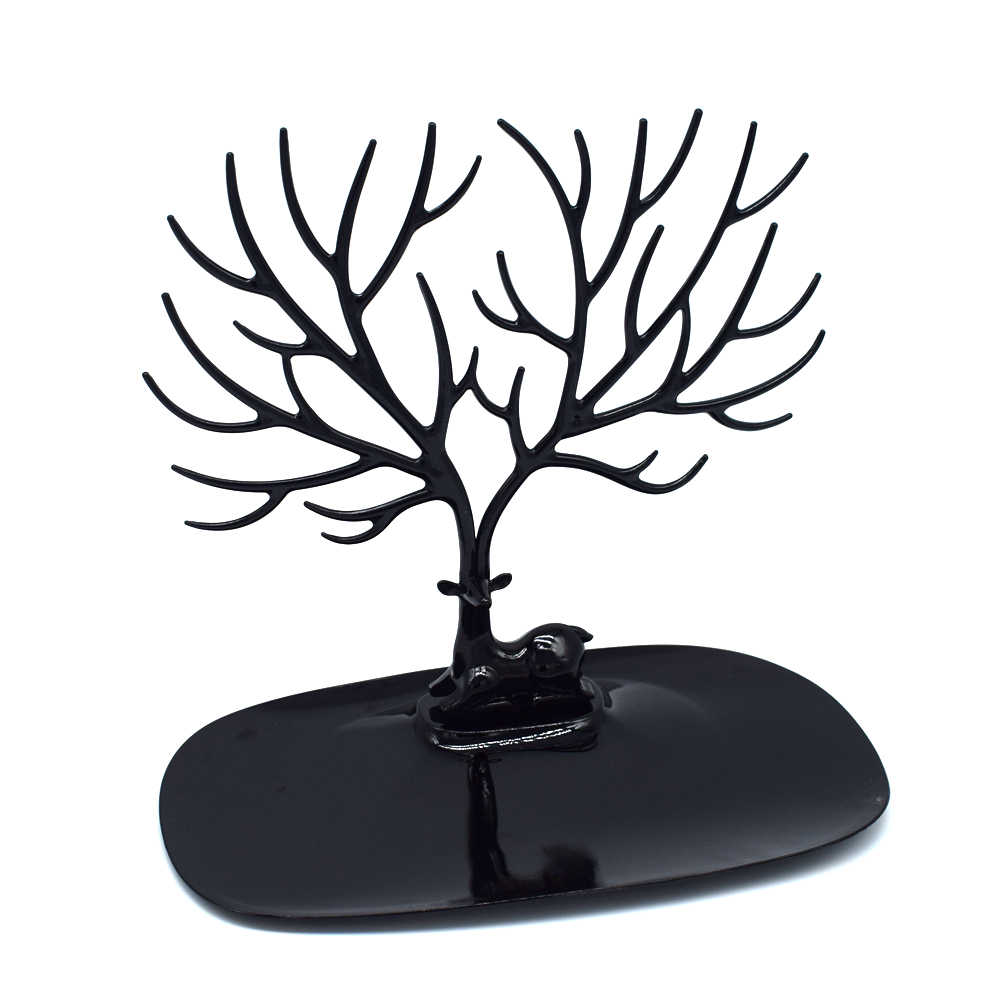 Plastic Jewelry Display Tree For Earring Bracelet Necklace Ring Deer Tray Display Stand Organizer