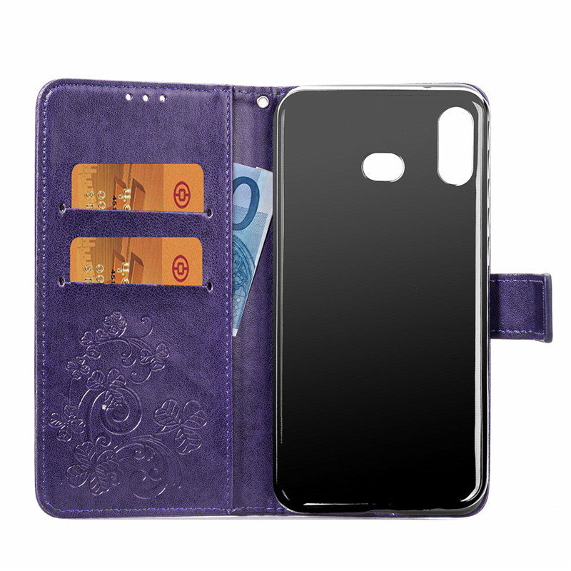 For Samsung Galaxy A6S Case Silicone Leather Wallet Anti knock Phone Bag Case For Samsung Galaxy A6S Cover For Samsung A6S Case in Flip Cases from Cellphones Telecommunications