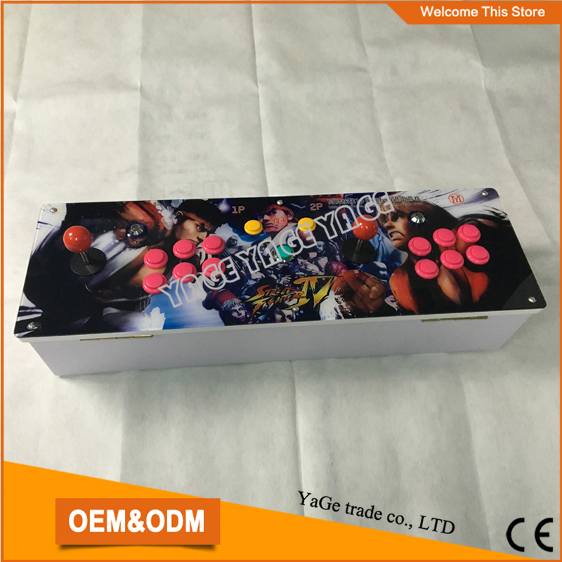 все цены на  2017 New King of fighters Joystick Consoles with multi game PCB board 680 in 1,pandora box 4S arcade joystick game console  онлайн