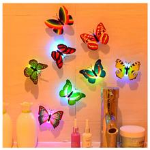 JXSFLYE 10pcs Artificial Butterfly Luminous Fridge Magnet for Home Christmas Wedding Decoration