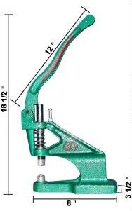 Ręcznie naciśnij maszyny dla prasy szpilki oczka przelotki nity przystawki przycisk Popper stadniny skórzane narzędzie w Materiały do rękodzieła od Dom i ogród na  Grupa 1