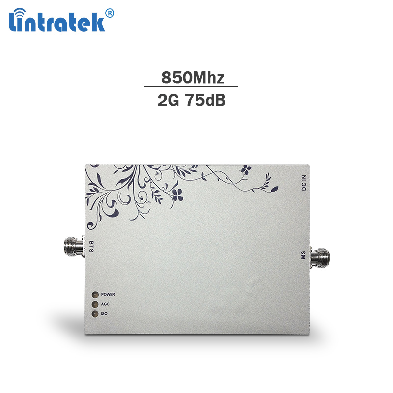 Lintratek Signal Booster 850Mhz 75dBi AGC&MGC Cellphone Gsm Repeater 3g 4g Lte Network Booster Mobile Signal Amplifier Only#8.1