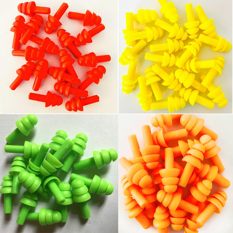 200pcs Ear Plugs Silicone Ear Protection Earplugs For Sleeping Plug Anti-Noise Protector Noise Reduction Hearing Protection DE01
