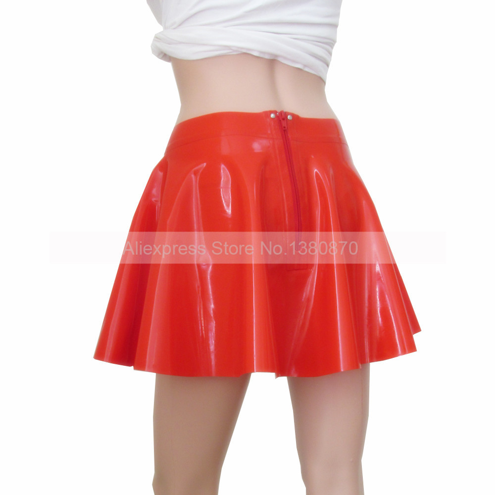 ld068a Todo S fósforo Sexy Falda Látex Ropa Mini Sólido Mujeres Del Muchacha Rojo Rx78wBfqf