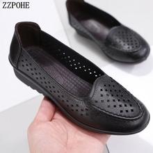 Damskie buty 2018 wiosna modne buty wsuwane wygodne buty do chodzenia obuwie damskie płaskie buty Plus rozmiar buty dla matek tanie tanio Dla dorosłych Mieszkania Wiosna jesień Stałe Skóra Split Neopren Szycia Podstawowe Pasuje prawda na wymiar weź swój normalny rozmiar