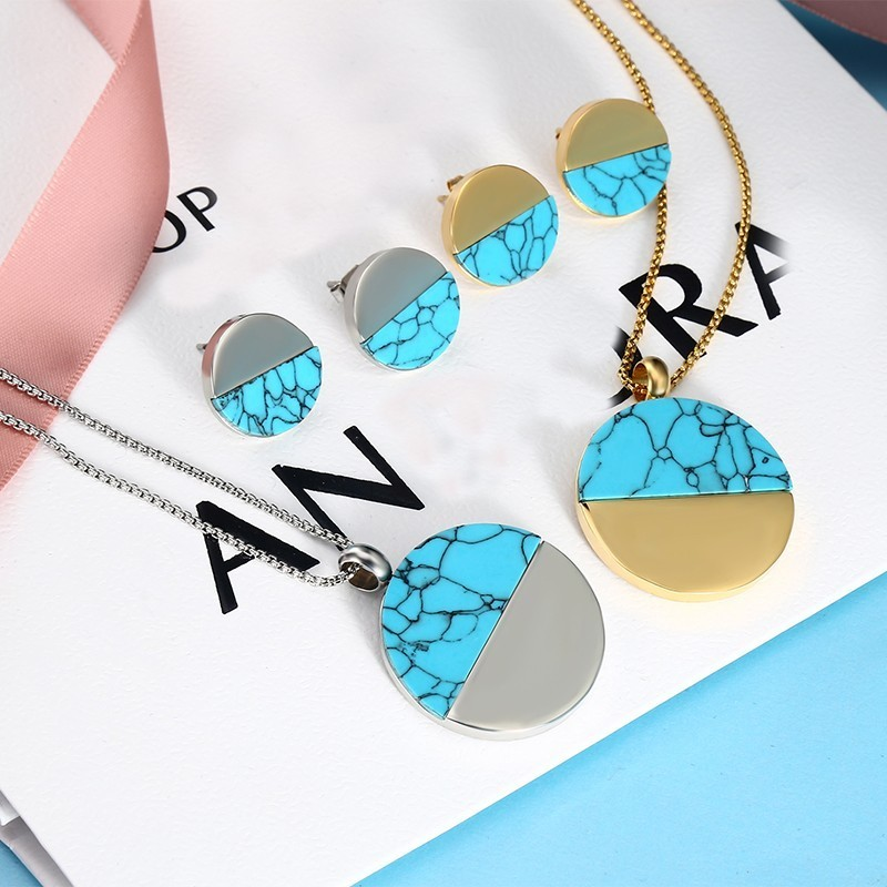 RIR Costume Jewelry Sets You Choose Color Stainless Steel Women Personalized Bridesmaid Women Colorful Jewelry Set