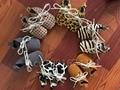 Comercio al por mayor 50 par/lote zapatos oxford lace up Leopardo dot muchacha del muchacho de bebé de cuero suaves Mocasines Bebé recién nacido zapatos de los niños