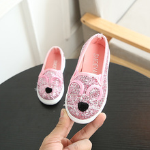 New Girls Shoes Kids Princess Sequins Children Sport for Baby Cartoon Mouse Casual Soft Bottom