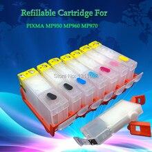 Refillable Cartridges PGI-5BK MP960 Canon Pixma for Mp950/Mp960/Mp970/7pcs 1set CLI-8BK