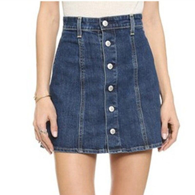 A Line Jeans Skirt - Dress Ala