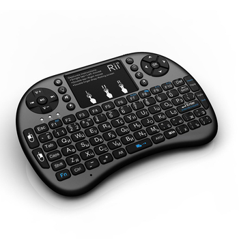 Rii i8+ 2.4G Wireless Mini Gaming Keyboard Backlit Russian Hebrew Remote Control Touchpad Mouse For Smart Android BOX Tablet PC t2 c wireless russian keyboard with multimedia remote control flying mouse keyboard 2 4ghz usb rechargeable android remote contr