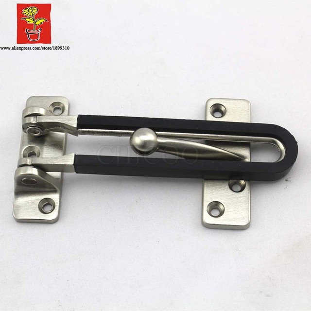 Chicoo Alliage De Zinc Tache Nickel Sécurité Porte Garde Loquet Avec - Sécurité porte