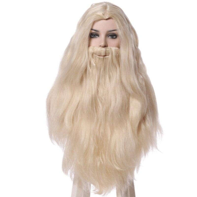 Albus Silente cosplay capelli strega di halloween forniture cosplay del partito lungo anime cosplay capelli vecchio cosplay