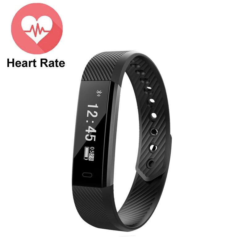 New ID115 HR Smartband TPU Bracelet Fitness Sleep Activity Tracker Pedometer Heart Rate Monitor Smart band Wristband
