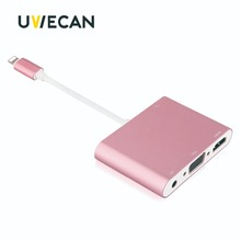 ФОТО adapter for lightning to hdmi vga av cable 1080p hdtv adapter 4k splitter for iphone x 8 7 6plus for ipad air/mini/pro