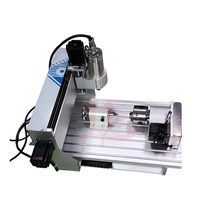 Port USB!! 3D CNC routeur 6040 4 axes CNC fraiseuse avec 1.5kw spinlde, interrupteur de fin de course, vis à billes CNC graveur + 4 pièces pinces - 3