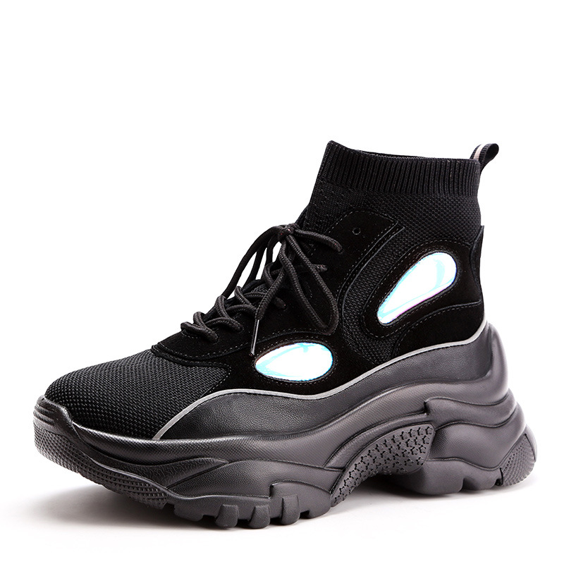 Piso Ocio Lujo En Mujeres 2019 Zapatos Aumentando Cuero La 1 2 Genuino Calcetines Zapatos De Mujer Malla Y las Primavera 6FO7q6