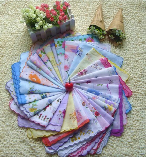 29 Pieces Cutter Ladies Craft Vintage Hanky Floral Handkerchief