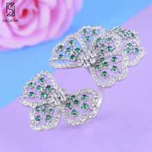 купить SISCATHY Charms Big Bowknots Cubic Zirconia Rings Female Dubai Wedding Party Ring For Women Jewelry Bagues Anillos 2019 дешево