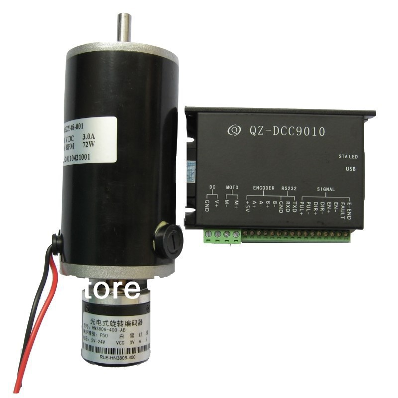 DC24V servo motor  package instead of 57 stepper motor with encoder,closed-loop control,Motor Driver DCC9010 buy monitor instead of tv