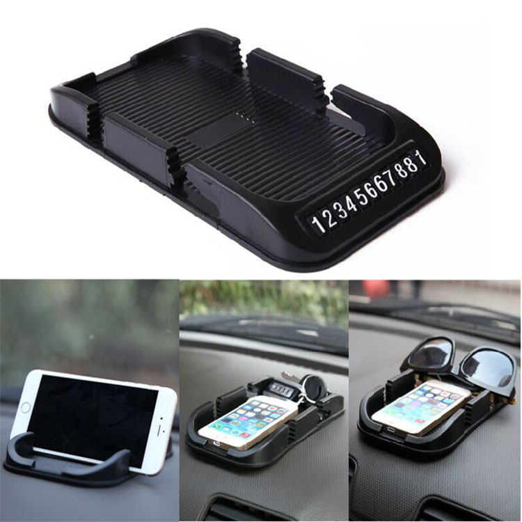 Universal Car Phone Holders Silicone Rubber Skidproof Mobile Phone stands auto Anti Slip Pad Mat Cool Gadgets for iphone6 GPS