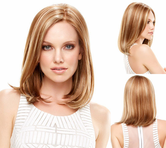 Fashion New Women Wig Classic Blonde Bob Wig Straight Styles Medium