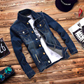 T china cheap wholesale 2016 new Spring autumn male denim jacket boys denim coat teenage casual slim outerwear men's clothing