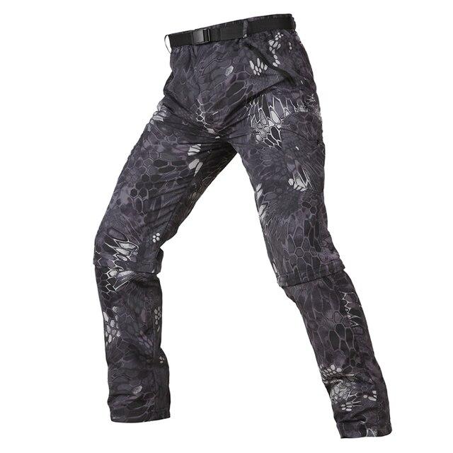 Летние военные тактические брюки мужские быстросохнущие съемные легкие штаны дышащие камуфляжные армейские брюки на молнии