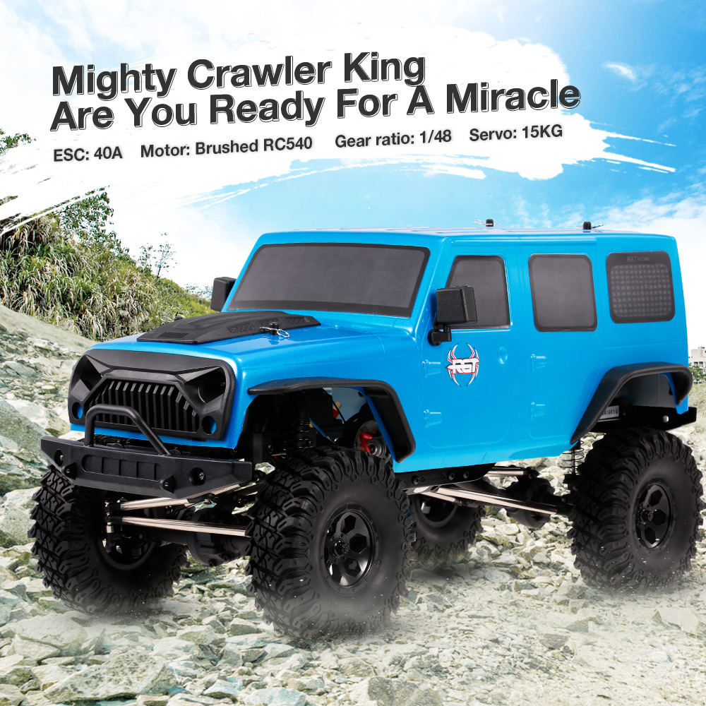 RGT 86100 1:10 RC Car 15Km/h 2.4G 4WD RC Rock Crawler Off-road Monster Climbing Cars Kids Toys
