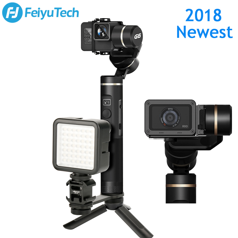 Feiyutech G6 Gimbal Splash Proof Bluetooth Wifi Connection OLED Screen Handheld Stabilizer for GoPro HERO 5 4 RX0 Yi 4k AEE