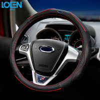 High Quality Black Leather Steering Wheel Cover For BMW Ford KIA Honda VW Volkswagen Buick Chevrolet