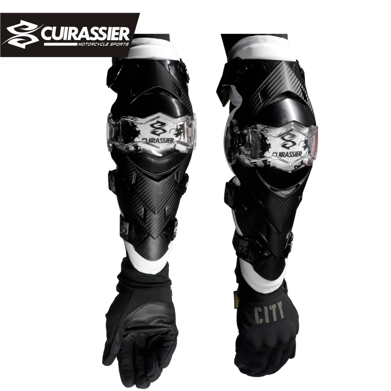 Cuirassier Professional Motorcycle Elbow Protector Motocross Kneepad Downhill Dirt Bike MTB MX Off-Road Racing Knee Pads 3 Color
