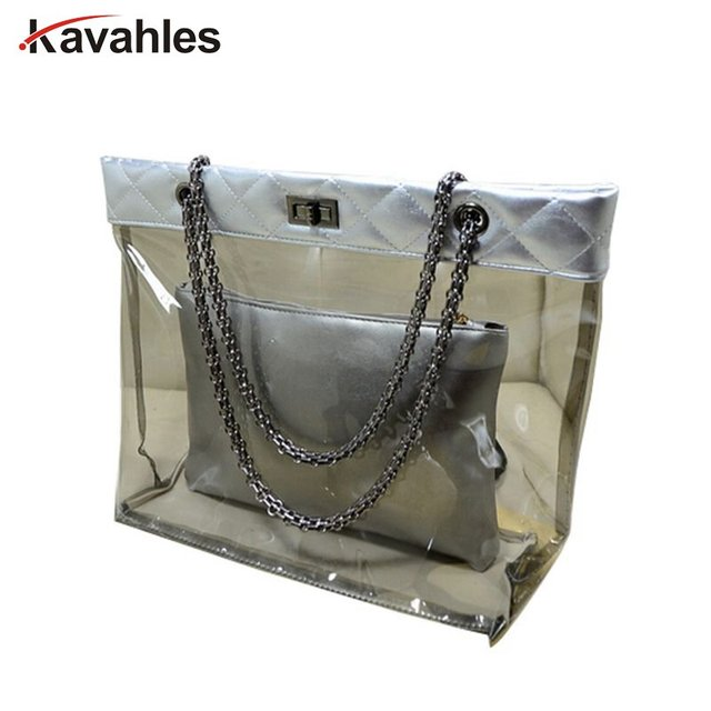 Transpa Tote Bag Women S Handbag Crystal Large Beach Bags Candy Color Jelly Waterproof Shoulder