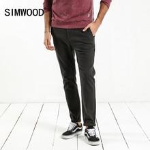 SIMWOOD 2020 frühjahr Neue Casual Hosen Männer Skinny Slim Fit Plus Größe Hohe Qualität Plus Größe Marke Kleidung XC017048