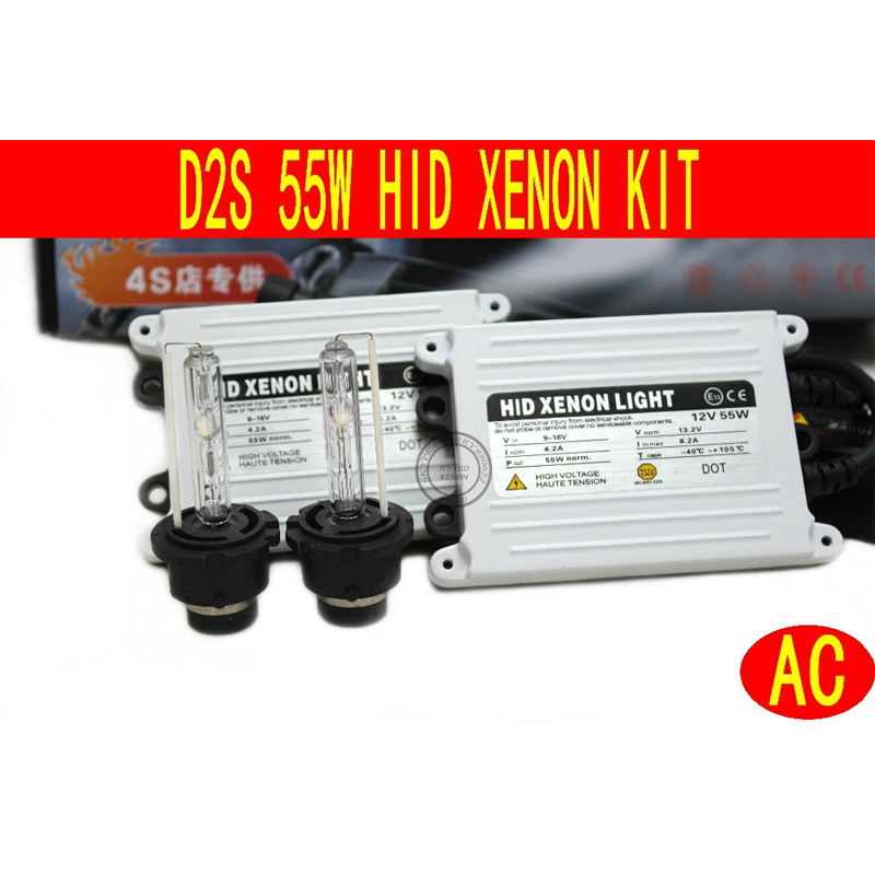 MGTV LIGHT Slim Ballast Xenon HID Kit AC 55W D2S D2C 4300K,5000K,6000K,8000K,10000K...Single Beam HID Conversion Kit free shipping hid xenon d2 high quality ballast 1pc power conversion ballast head light d2s d2c d2r of car light source