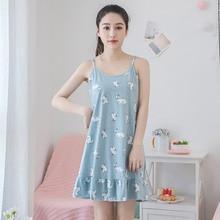 2018 Summer Cotton Student Cute 90s Girls Cartoon Nightgown Small Fresh Night  Dress b72a48ef3