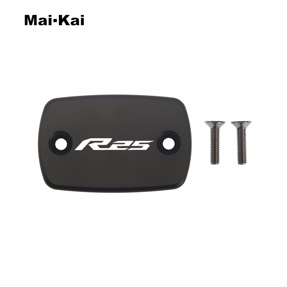 MAIKAI For YAMAHA YZF-R25 2015-2019 CNC Aluminum Motorcycle Brake Fluid Fuel Tank Cap Cover