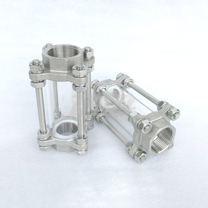 """Image 2 - 1/2"""" 3/4"""" 1"""" 2"""" BSPT Female Flow Sight Glass Indicator Diopter 85 PSI 304 Stainless Steel Water Oil"""
