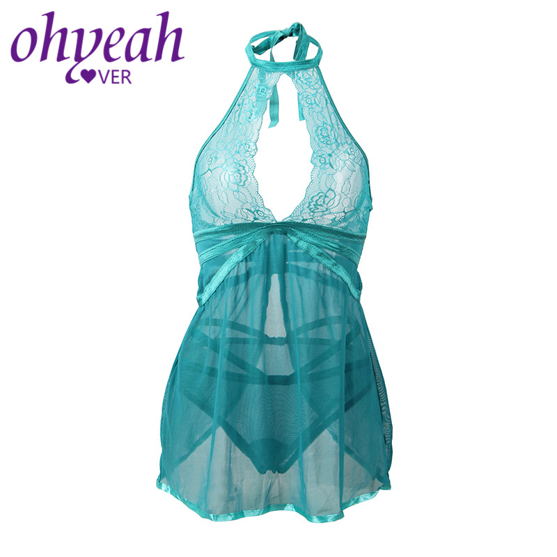 Ohyeahlover Baby Doll Sexy Lingerie Backless Lenceria Erotica Adult Underwear Mujer Sexi Transparent Nightgown Female RM80661
