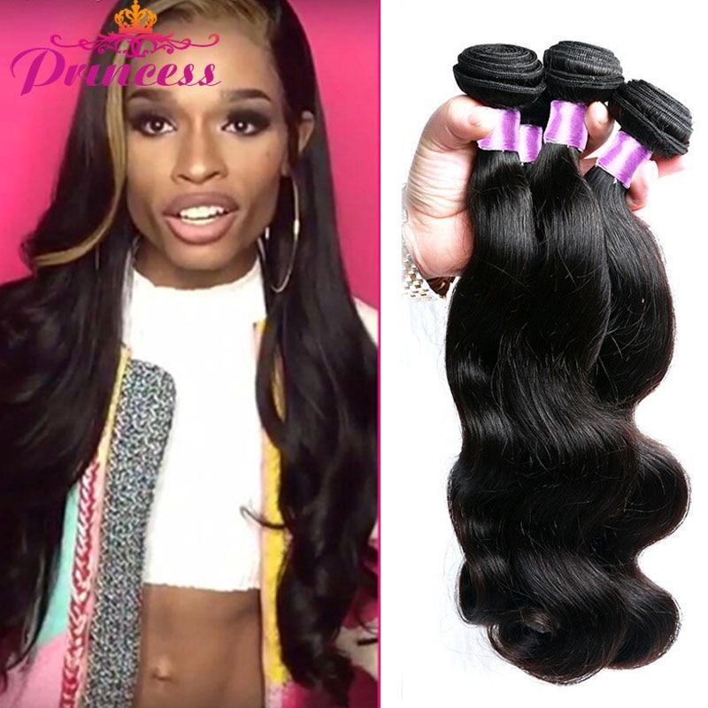7a Grade Brazilian Virgin Hair Body Wave 3 Bundles Princess Hair