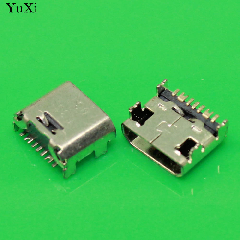 YuXi 100pcs Micro 7pin USB Connector For Samsung I9082 I879 I8552 I869 Samsung Galaxy Tab 3 Lite SM-T110 Mobile Charging port