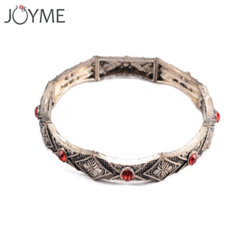 XIAONIANSHI Brand Women Vintage Charm Stretch Bracelets & Bangles Adjustable Beaded Strand Retro Marcasite Bracelet Bijoux Femme