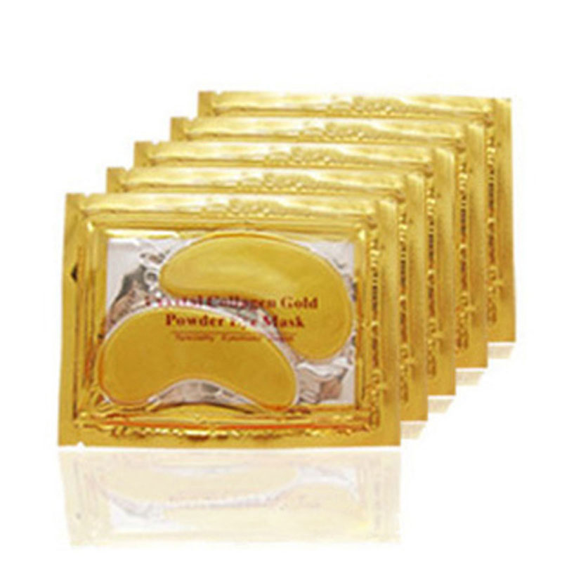 20pcs=10packs 2017 Gold Crystal Collagen Eye Mask Hotsale Eye Patches For The Eye Anti-Wrinkle Remove Black Eye Face Care
