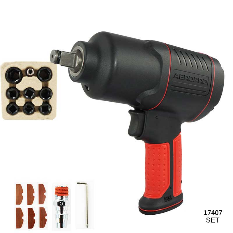 Pneumatic Impact Wrench 1/2 Pneumatic Gun Air Pressure Wrench Tool Torque 450ft-lb Set with sleeve pneumatic impact wrench 1 2 pneumatic gun air pressure wrench tool torque 450ft lb