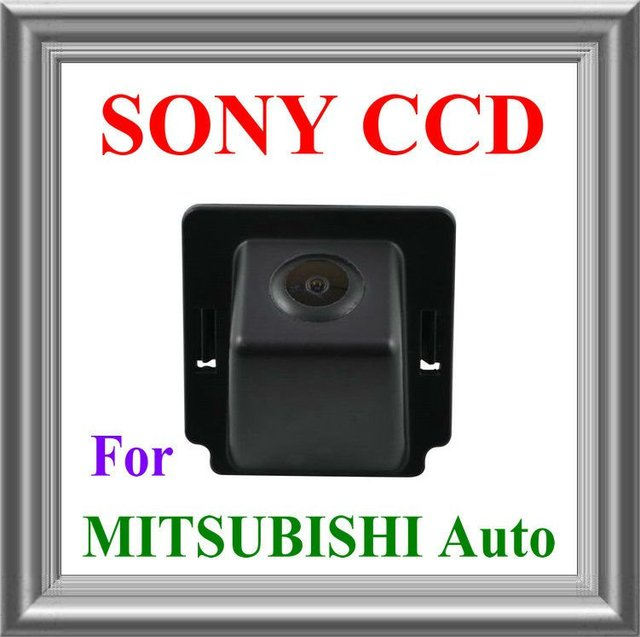 HD !!!MITSUBISHI OUTLANDER REVERSE backup rear view parking safety mirror image with guide line SONY CHIP CCD camera