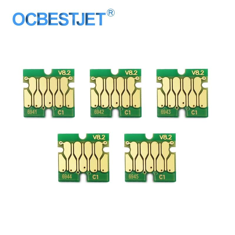 Atualizar T6941-T6945 t6941 chip de cartucho para epson surecolor t3000 t3070 t3200 t5200 t7200 t3270 t5270 t7270 (5 opções de cores)