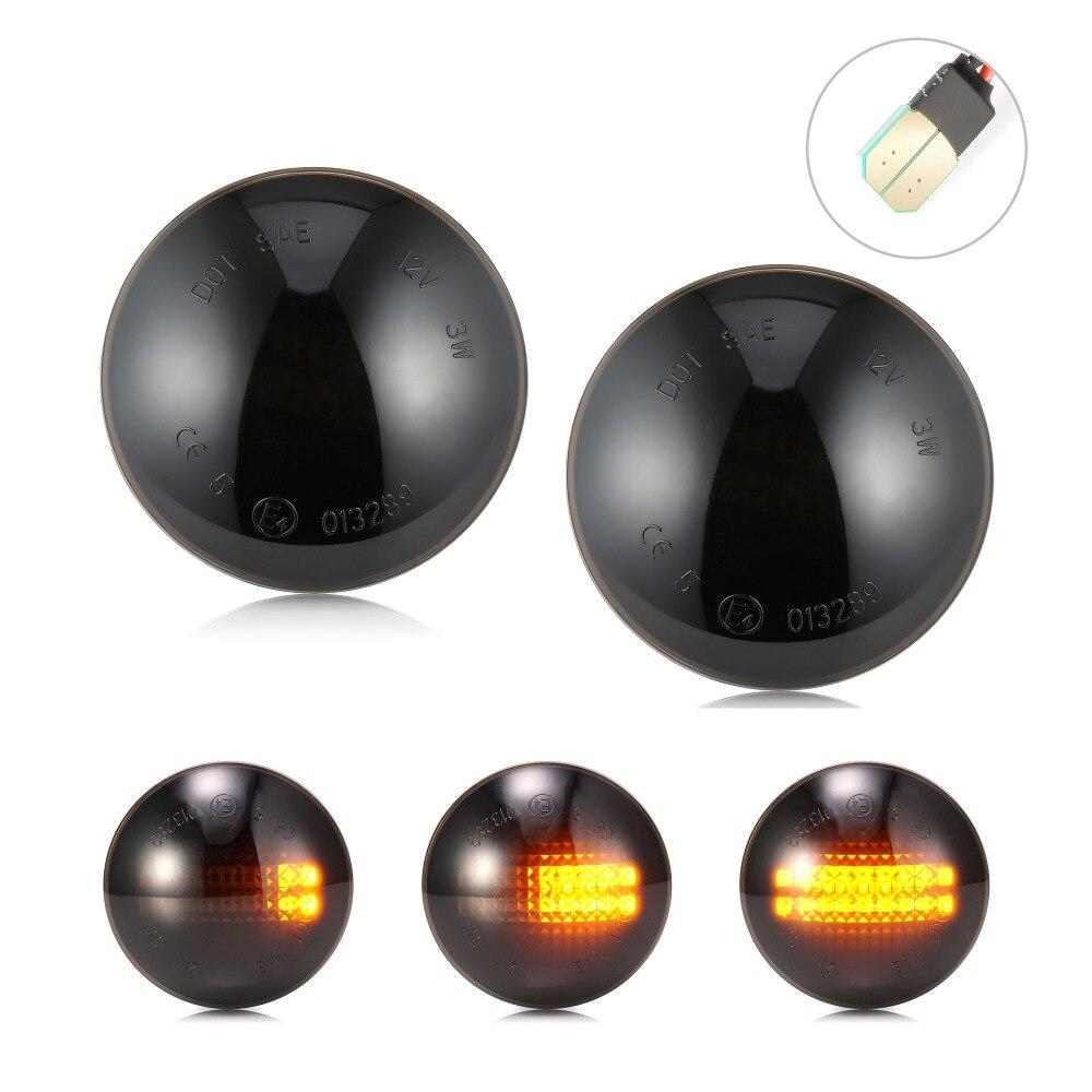 Accessoires auto fumé 2 xSide clignotant LED pour Land Range Rover L322 2002-2012 Ampoule Voiture accessoires LED #4