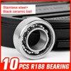 10pcs R188 Stainless Steel Black Ceramic Ball Bearings For High Speed Hand Spinner Luminous Hand Tri