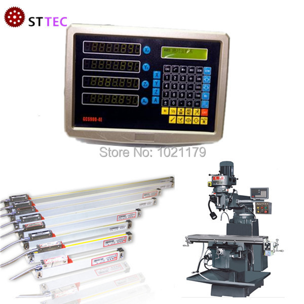送料無料4軸cnc droデジタル読み出しで4ピースリニア光学鱗  グループ上の ツール からの レベル計測器 の中 1
